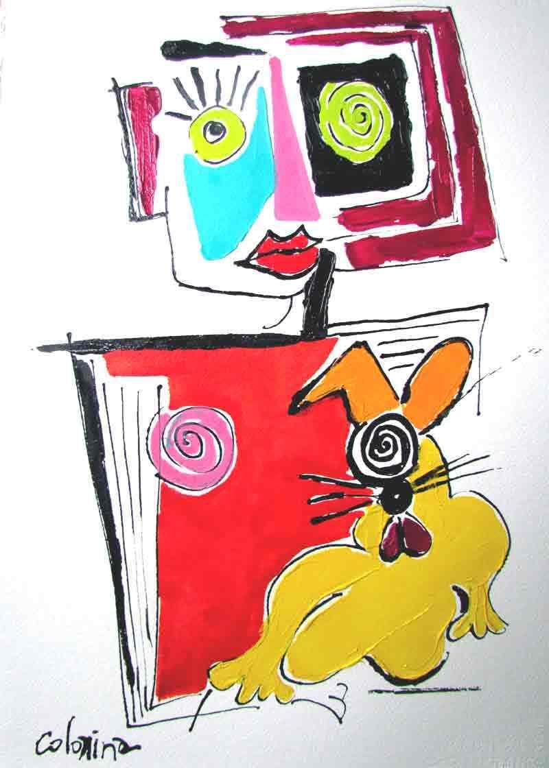Dessin Jorge Colomina - La chienne de Madame
