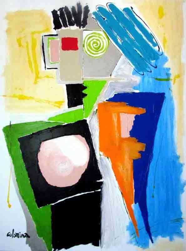 Les cheveux bleus 130x97 cm - Peinture Jorge Colomina