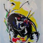 Banderilles, peinture sur toile de Colomina
