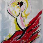 Gitana, peinture sur toile en technique mixte