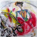 Movida, peinture sur toile - art contemporain