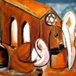 Peinture de Colomina - Autour du puit de la série à thème sur L'inquisition
