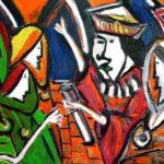 Peinture de Colomina - Édit d'expulsion de la série à thème sur L'inquisition