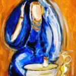 Peinture de Colomina - Femme Bleue, de la série à thème sur L'inquisition