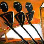 Peinture de Colomina - La galère, de la série à thème sur L'inquisition