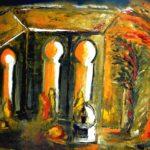 Peinture de Colomina - La fuite, de la série à thème sur L'inquisition
