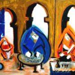 Peinture de Colomina - La Sérénité, de la série à thème sur L'inquisition