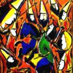 Peinture de Colomina - Le chasseur de primes, de la série à thème sur L'inquisition