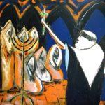 Peinture de Colomina - Torquemada, de la série à thème sur L'inquisition