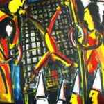 Peinture de Colomina - La torture, de la série à thème sur L'inquisition