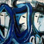 Peinture de Colomina - Les trois religions de la série à thème sur L'inquisition