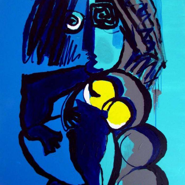 Au clair de lune - Peinture Jorge Colomina