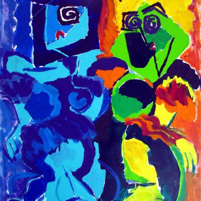 Cobra girls - Peinture Jorge Colomina