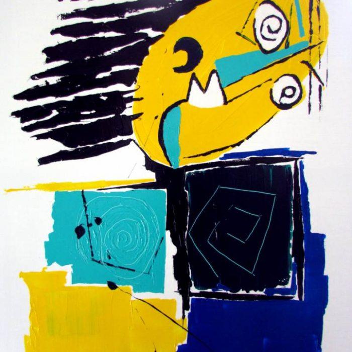 Dans le vent - Peinture Jorge Colomina