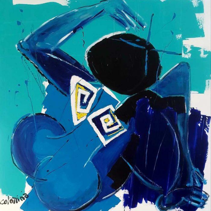 De dos - Peinture Jorge Colomina