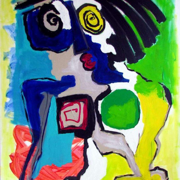 Délicieuse - Peinture Jorge Colomina