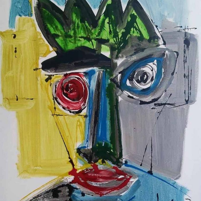 Figure à l'encre - Peinture Jorge Colomina