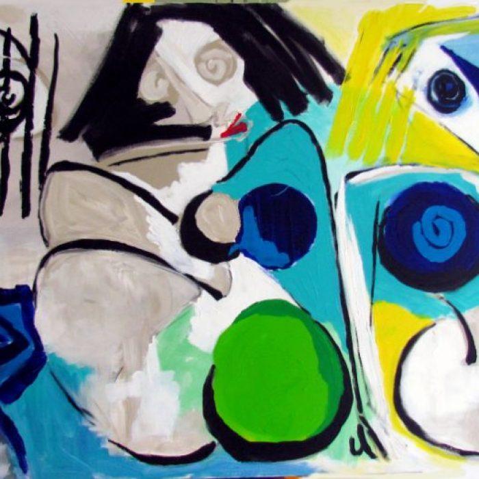 Il est bon de ne rien faire - Peinture Jorge Colomina