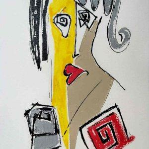 Dessin Jorge Colomina - La dame