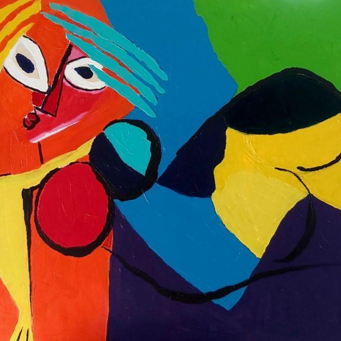La détente - Peinture Jorge Colomina