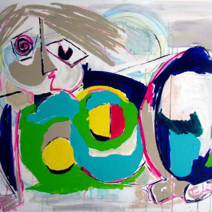 La maja - Peinture Jorge Colomina