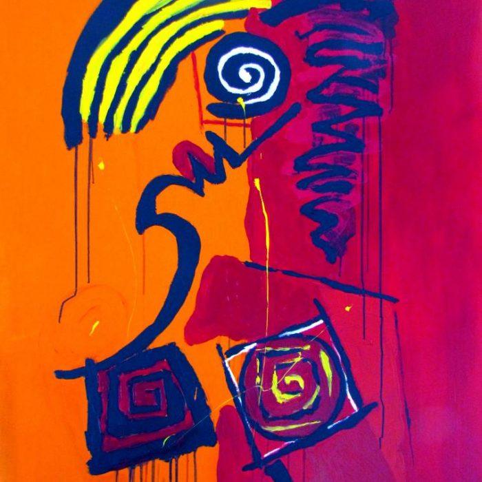 La passionnée - Peinture Jorge Colomina