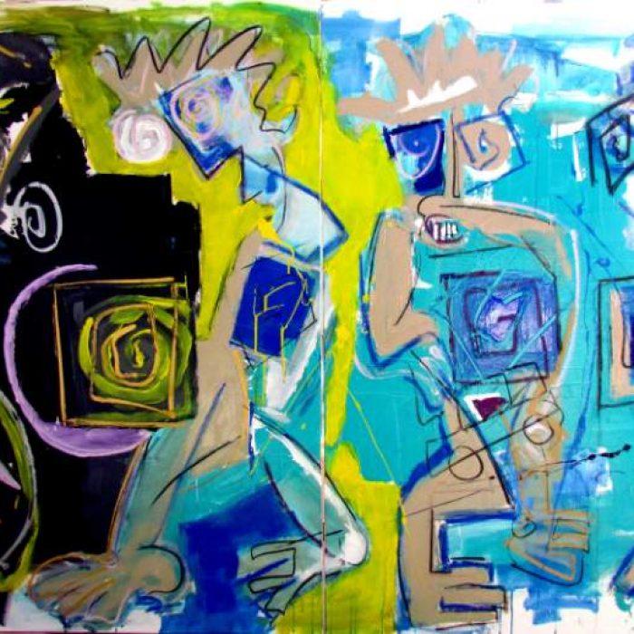 La vois-tu - Peinture Jorge Colomina