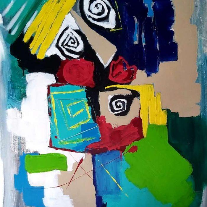 L appel - Peinture Jorge Colomina