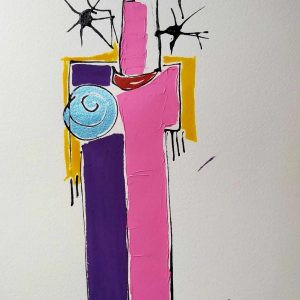 Dessin Jorge Colomina - Le Sari violet