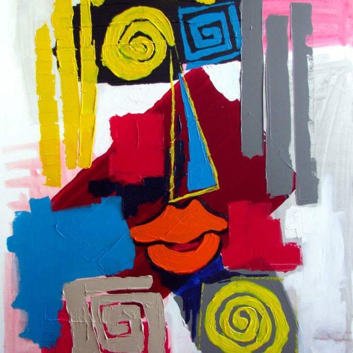 Le gai luron - Peinture Jorge Colomina