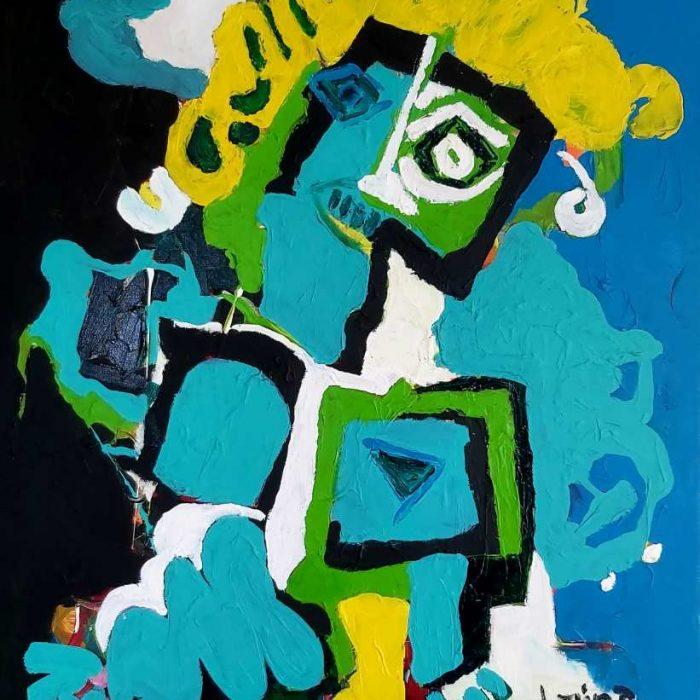Le pantin - Peinture Jorge Colomina