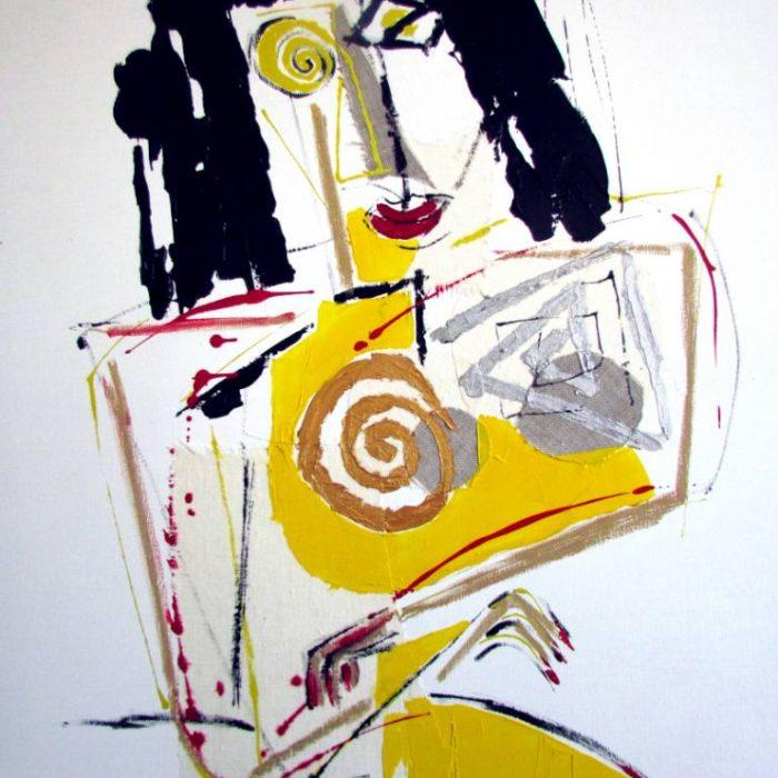 Le sein doré - Peinture Jorge Colomina