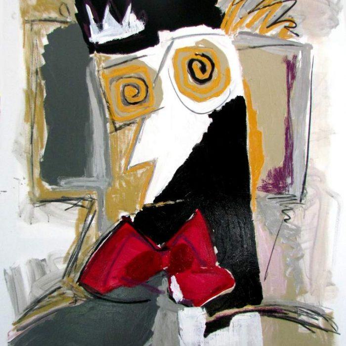 Les yeux d'or - Peinture Jorge Colomina