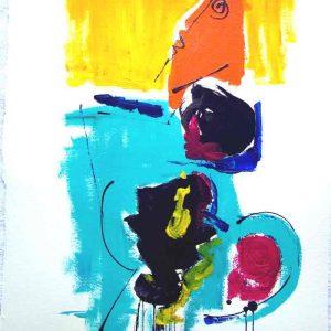 Dessin Jorge Colomina - Le corps turquoise