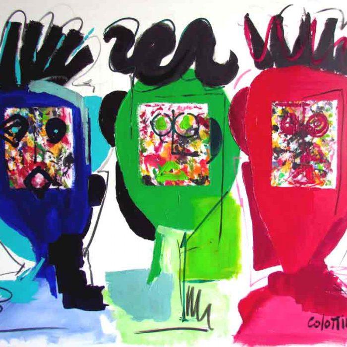 3 Guys - Peinture Jorge Colomina