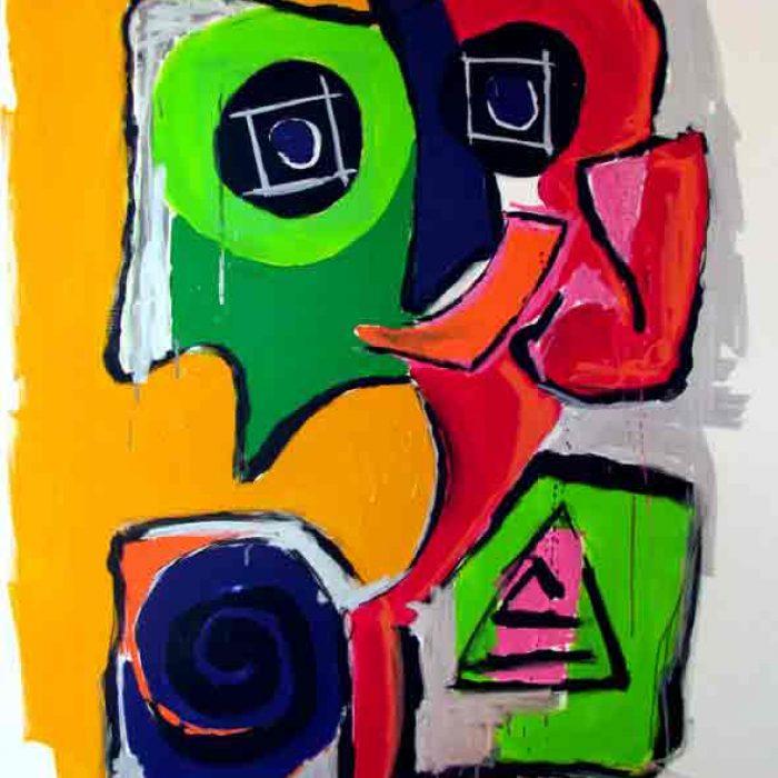 Aïe II - Peinture Jorge Colomina