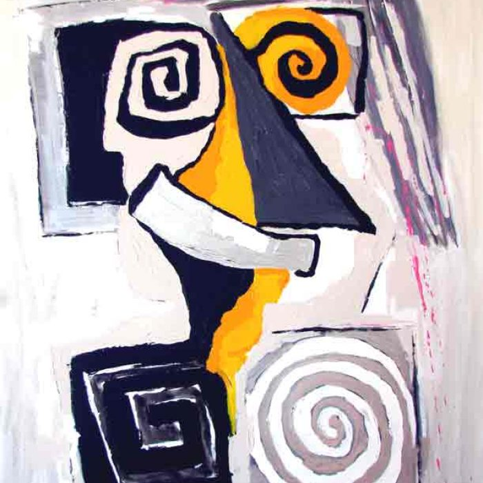 Aïe en beige - Peinture Jorge Colomina