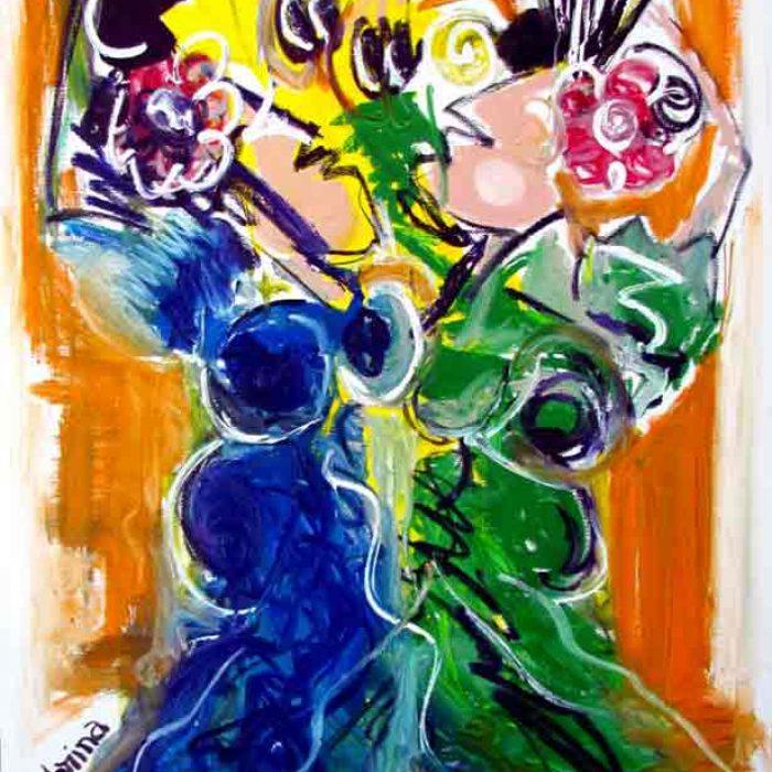 Bailarinas 116x89 cm - Peinture Jorge Colomina