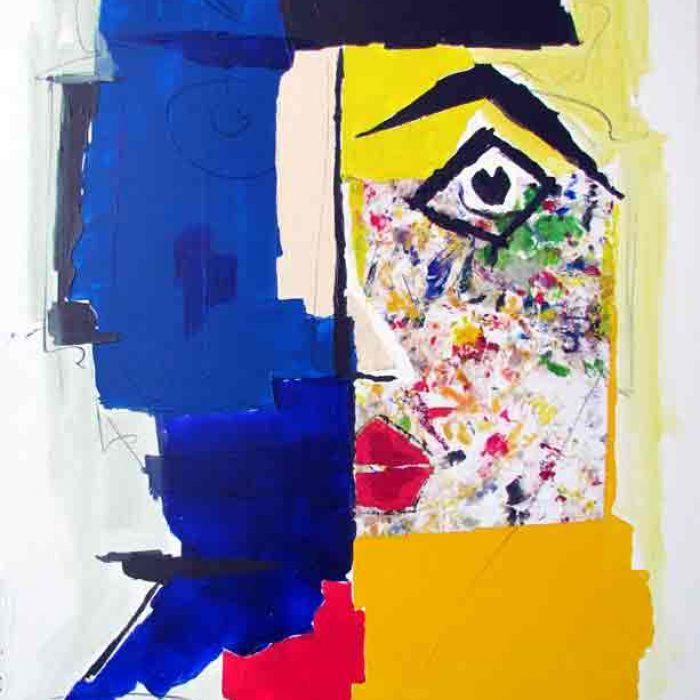 Cache cache 116x89 cm - Peinture Jorge Colomina