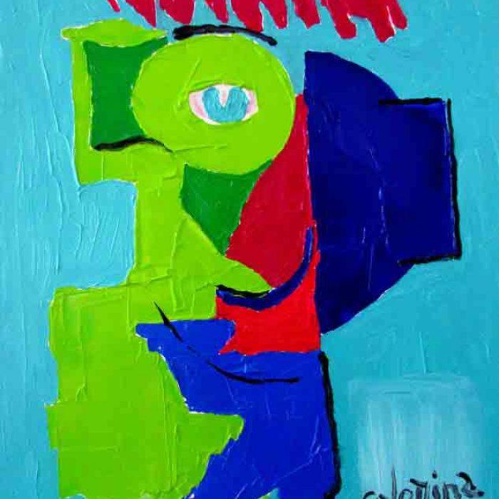 Clin d'œil 81x65 cm - Peinture Jorge Colomina