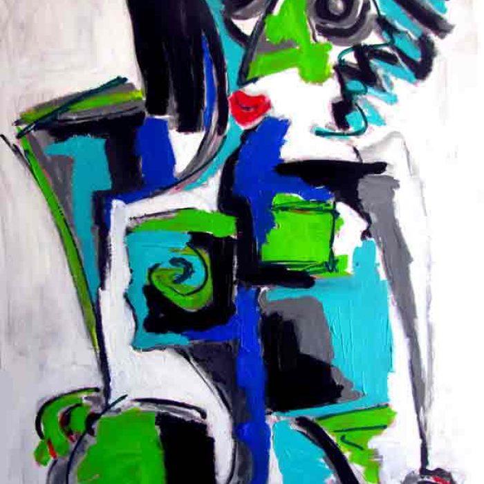 Cou-cou 116x89 cm - Peinture Jorge Colomina