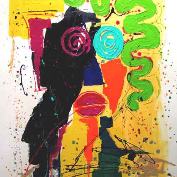 Déconfinement 130x97 cm - Peinture Jorge Colomina