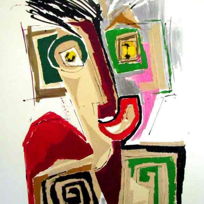 Entre 2 âges 130x97 cm  - Peinture Jorge Colomina