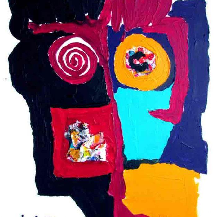 La belle joue 81x65 cm - Peinture Jorge Colomina