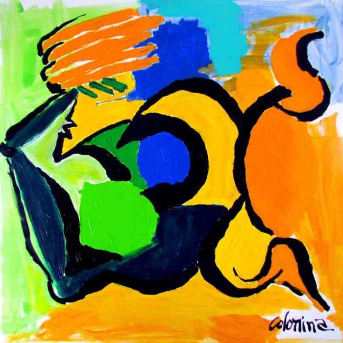 La dormeuse 120x120cm - Peinture Jorge Colomina