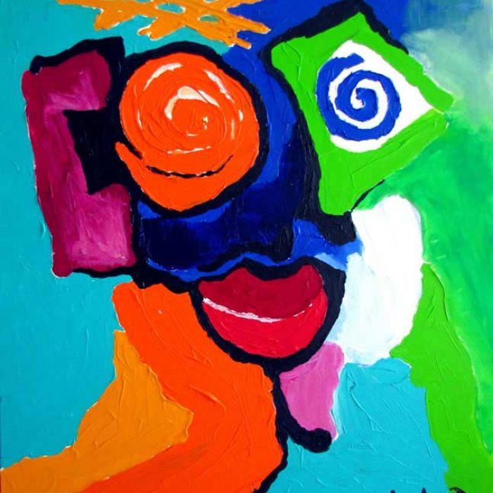 Smilee 100x81 cm - Peinture Jorge Colomina