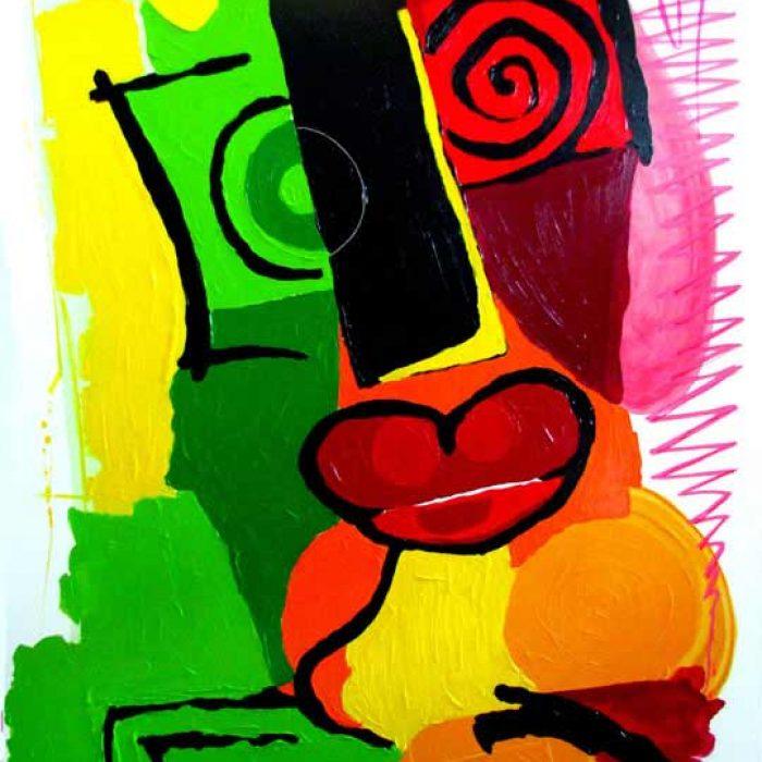 The lover 195x130cm - Peinture Jorge Colomina
