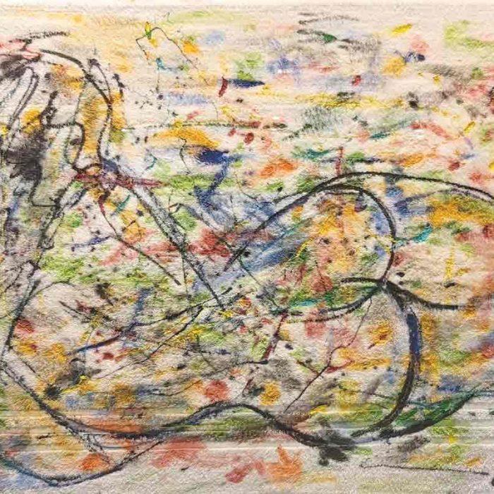 Nu sur serviette éponge 100x70 cm - Peinture Jorge Colomina
